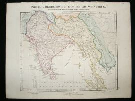 Africa & India: 1864 Antique Map, Aaron Arrowsmith